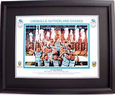 2016 Cronulla Sutherland Sharks Premiers Grand Final Celebration Print Framed