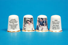 Prince Louis's Christening Mother & Baby & Family Set of 2 China Thimbles B/109