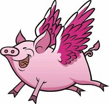 Flying Pig Pigs Will Fly Sticker Decal Graphic Vinyl Label