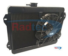 "Lotus Sunbeam Radiator by Radtec + 11"" SPAL fan + Powder coated Black"
