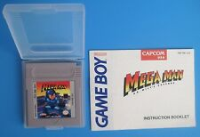 Mega Man: Dr. Wily's Revenge with Manual Nintendo Game Boy plays in Color GBA SP