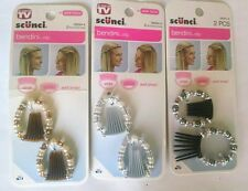 Any color 2 Scunci BENDINI hair CLIP barrette BEADs comb jewelry revlon goody