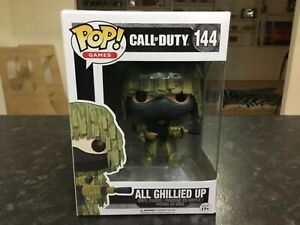 FUNKO POP! GAMES - CALL OF DUTY #144 ALL GHILLIED UP - NEAR MINT , RARE VAULTED