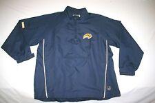 Buffalo Sabres Jacket Wind Rain 1/2 Zip Men L Reebok Blue NEW