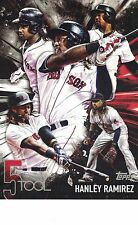 "2017 Topps 5 Tool Player #5T-34 5x7"" 18/49 Hanley Ramirez Boston Red Sox JUMBO"