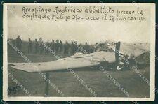 Udine Aiello Molino Novacco Aereo Aviazione Foto ABRASA cartolina QT1328
