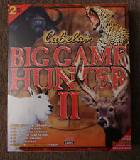 Cabelas Big Hunting Computer Video Game Hunter II Windows 95 98 CD ROM 2 Disc