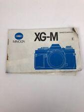 MINOLTA XG-M camera owners manual .  XGM Instruction Manual. English Edition