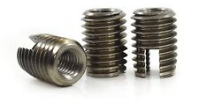 STAINLESS STEEL SLOTTED SELF TAPPING THREADED INSERTS NUTS M2.5 M3 M4 M5 M6 M8