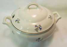 Suisse Langenthal Tureen with Lid Blue Green Gold Floral Gorgeous REDUCED