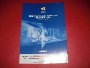 2002 FIFA WORLD CUP MATCH SCHEDULE
