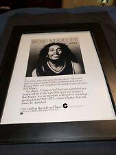 Bob Marley Chances Are Rare Original Promo Poster Ad Framed!