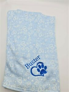 Personalised Paw Dog Cat Puppy Pet Blanket cotton NEW 2021
