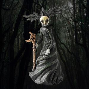 UK Halloween Light-Up Witch Statue Crafts Ornament Outdoor Haunted Garden Decor