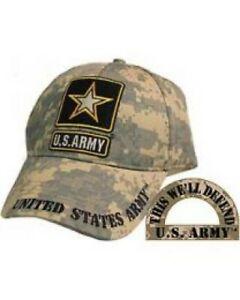 Army Star on a Camo Ball Cap. All Season Weight