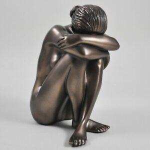 Bronze Resin Nude Female Sculpture Peace Figurine Statue Ornament Gift
