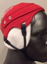 NHL Detroit Redwings Youth Fleece Hockey Helmet Winter Hat Earflaps Red White