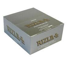 10x  (320) RIZLA SILVER KING SIZE SLIM CIGARETTE SMOKING ROLLING PAPERS ORIGINAL