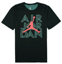 JORDAN AJ Stencil Dri-FIT T-Shirt sz 2XL XX-Large Black Turquoise Infrared
