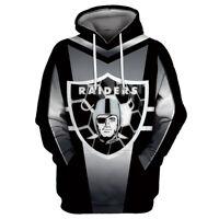 Las Vegas Raiders Hoodies Men's Pullover 3D Print Sweatshirts Hooded Jacket Coat