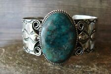 Navajo Indian Nickel Silver Turquoise Bracelet by Jackie Cleveland!