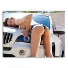 Car Model Hot Girl Lady Poster HD Art Print Wall Picture Home Room Decor 24x32