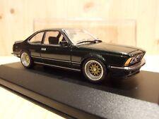 "BMW 635 CSI, 1/43, grünmet., 17"" BBS Tiefbettfelgen, (628 633 M6), rare modelcar"