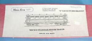 Mega Kit Models 7mm Brass & White Metal 7020 - MR Steam Rail Motor Trailer Coach
