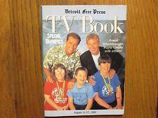 Aug. 11, 1991 Detroit Free Press TV Book/Mag(ARNOLD SCHWARZENEGGER/WAYNE GRETZKY