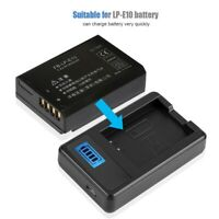 LP-E10 Battery Charger Single Slot USB Charging w/LCD Screen for Canon EOS Rebel