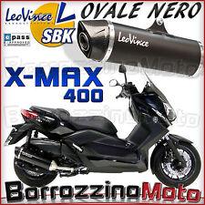 TERMINALE DI SCARICO SLIP-ON SBK LEOVINCE NERO OMOLOGATO YAMAHA XMAX 400 2014