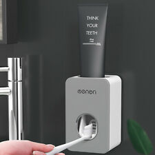 Automatic Toothpaste Dispenser Squeezer Mounted Toothbrush Bathroom Wall  AU
