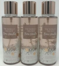 3 VICTORIA'S SECRET BARE VANILLA FROSTED FRAGRANCE MIST BODY SPRAY PERFUME