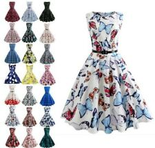 Women Vintage 50s 60s Retro Rockabilly Pinup Housewife Party Swing Dress