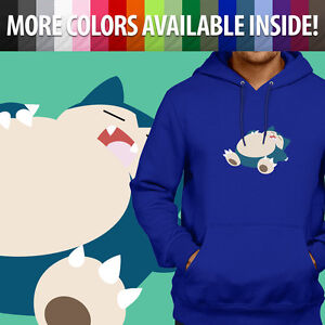 Unisex Pullover Hoodie Sweater Gift Print Anime Lazy Sleeping Snorlax Cartoon