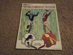 1965 Footballs Greatest Weekend Hall Of Fame Program Lions Redskins