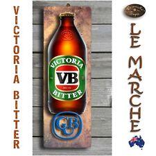 VB Victoria Bitter 3D LOOK Rustic Wooden BAR Plaque / Sign (FREE POST) Stubby