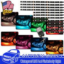 12pcs Motorcycle RGB LED Neon Under Glow Lights Strip For Harley Davidson 72 LED