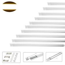 10x120cm 4ft LED Batten Tube Linear Surface Light Slim Ceiling Mount Warm Light