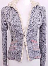 Free People Sweater Women's Extra Small XS Gray Thick Sweater Jacket Wool