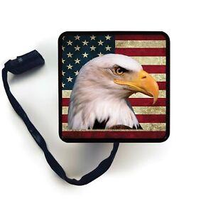 American Eagle USA Flag LED Hitch Cover Trailer Brake Light