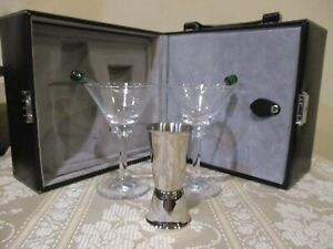 Square Martini Travel Bag/Case with Accessories