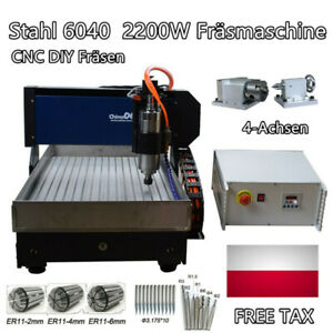 Stahl 6040 4-Achs-Gravierfräser 2200W Gravierfräsmaschine für Metallkupfer