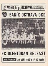 Programm | 1982-1983 | Banik Ostrava v Glentoran Belfast | UEFA Cup