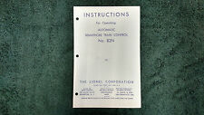 LIONEL # 82 N AUTOMATIC SEMAPHORE INSTRUCTIONS PHOTOCOPY