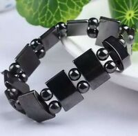 Creative Black Magnetic Hematite Bracelet Therapy Healthy men's women's bangle