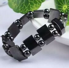 Cool Black Magnetic Hematite Bracelet Therapy Healthy men's women's bangle