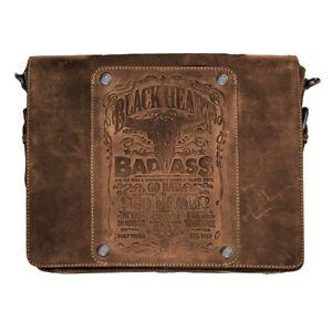 Jack's Inn 54 Ladykiller Tasche braun Echt Leder Vintage Umhängetasche