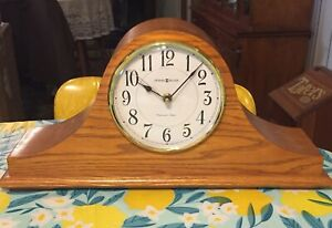 Vintage Howard Miller  Rare Blond Oak Westminster Chime  Mantle Clock