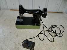 Vintage Spartan Singer Sewing Machine with Green Case Made in Great Britain